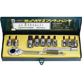 旭金属工業 ソケットレンチ用ヘキサゴンソケットセット12.7 (VX4000)