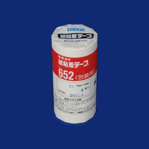 積水化学 紙粘着テープ652 15X18 8個入 (NO.652 15X18-8P)  文具・OA機器 文具・事務用品