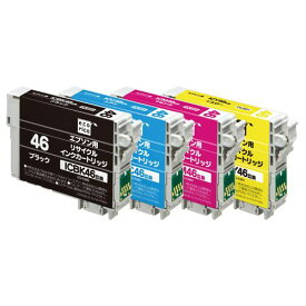 エコリカ リサイクルインク エプソン互換 4色パック (ECI-E464P/BOX)  文具・OA機器 文具・事務用品