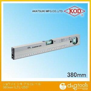 アカツキ/KOD 照明付き アルミレベル 水平器 380mm (LTL-250) 水平器 水平 水平機