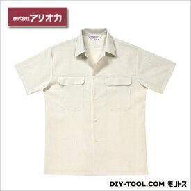 アリオカ 半袖開襟シャツ ホワイト M (A9700)