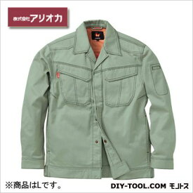 アリオカ 溶接・ 造船 作業着(作業服) 防炎ジャンパー アースグリーン L (MD2000)