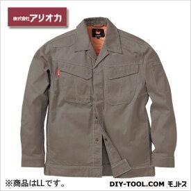 アリオカ 溶接・ 造船 作業着(作業服) 防炎ジャンパー グレー LL (MD2000)