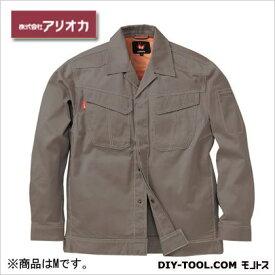 アリオカ 溶接・ 造船 作業着(作業服) 防炎ジャンパー グレー M (MD2000)