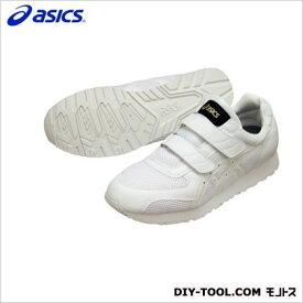 アシックス 静電気帯電防止靴 ウィンジョブ351 0101ホワイト×ホワイト 25cm (FIE351.0101 25.0)