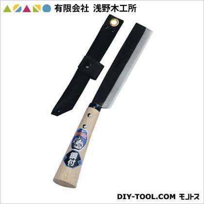 浅野木工所 ケース付竹割鉈両刃(手打鋼付) 165mm (07045)