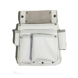 ACCS 皮製仮枠釘袋サイドポケット付 白 W240×H340mm (ZL-035WH)