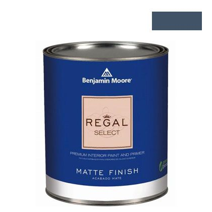 ベンジャミンムーアペイント リーガルセレクトマット 艶消し エコ水性塗料 hudson bay 4L (G221-1680) Benjaminmoore 塗料 水性塗料
