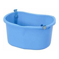 ニチエイ散布桶ベルト付ブルー428×300×215Hmm容量18L(301420)