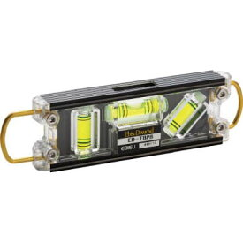 エビス ダイヤモンドトビレベル・プロブラック/グリーン 16x43x160 ED-TBPB マグネット 水平器
