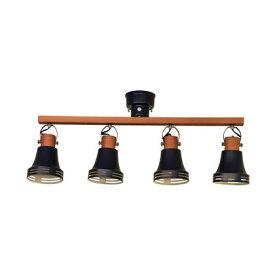 Lu Cerca インテリア輸入照明 Wood Bell4灯スポットライト マットブラック (LC10772-BK)