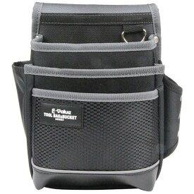 E-Value 腰袋3段ブラック&グレー EDK-2D GR