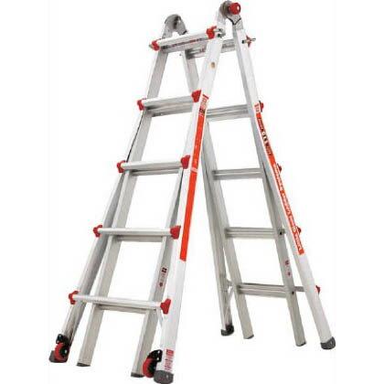 リトルジャイアント ハセガワアルミ合金製伸縮式はしご兼用脚立 LG-10303