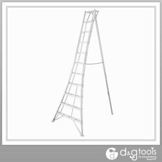 长谷川工程工业铝型材花园三脚架梯子绿色第 3 步。 3m (GSC-330) 长谷川工业梯子园艺活梯