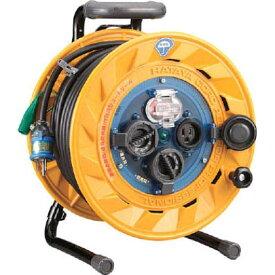 ハタヤ/HATAYA 防雨型屋外用リール 漏電遮断器付(アース付)電工ドラム・電工リール (BF-301K)