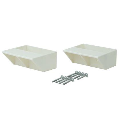 LABRICO(ラブリコ) 2×4材用棚受 シングル オフホワイト DXO-2 2個入