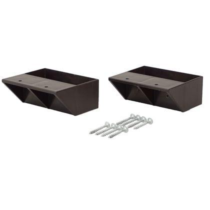 LABRICO(ラブリコ) 2×4材用棚受 シングル ブロンズ DXB-2 2個入