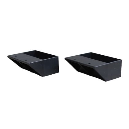 LABRICO(ラブリコ) 2×4材用棚受 シングル マットブラック(限定色) DXK-2 ツーバイフォー材 パーツ 2個入