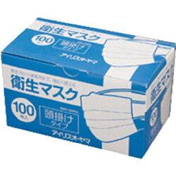 IRIS衛生マスク100P頭掛けタイプEMN−100PHLEMN100PHL1個