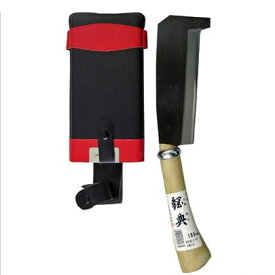 鋼典 鋼付 箸付鉈 コブ柄 木鞘 180mm (C-71)