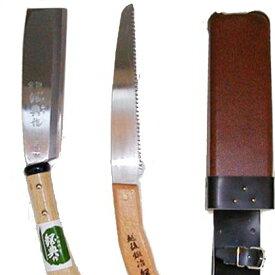 鋼典 鉈、ノコギリ2丁差し(片刃) (C-50)