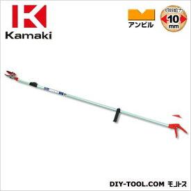 カマキ 6段伸縮式高枝切鋏かるのびアンビル3m 全長1.8m~3.0m #1860A