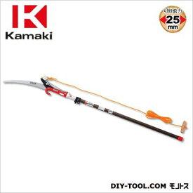カマキ 2段伸縮式高枝切鋏シルバーポール 全長1.2~2.0m #1000-D