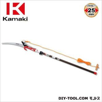 kamaki 2段伸縮式高枝切鋏银子杆全长1.2~2.0m#1000-D