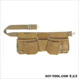 クニーズ 革製腰袋ダブルバッグ 腰袋両側ベルト(ベルト付き) (AP-622 ) 革製腰袋