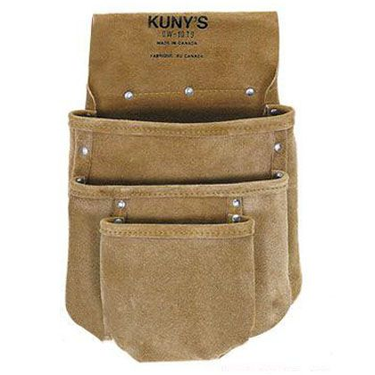 クニーズ 革製シングルバッグ腰袋片側(ベルト無し) DW-1019