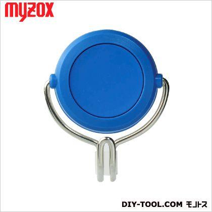 マイゾックス 超強力カラーマグネットフック 青 60*70*37mm (MG-757)