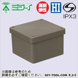 未来工業 防水プールボックス (カブセ蓋) ライトブラウン (PVP-1208BLB)