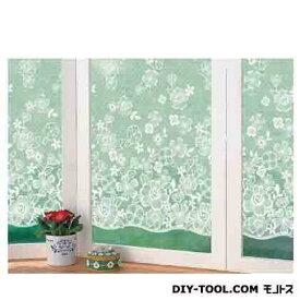 明和グラビア 窓飾りシート(レース調) ホワイト 92cm丈×90cm巻 GML-9210
