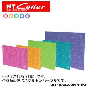 NTカッター カッティングマット カッターマット A5サイズ スケルトンパープル CM-22i(Pu) 1枚