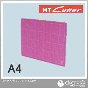 NTカッター カッティングマット カッターマット A4サイズ スケルトンレッド CM-30i(R) 1枚