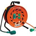 日動 電工ドラムびっくリール100Vアース漏電しゃ断器付30m 290 x 275 x 390 mm RNDEB30S