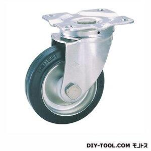 ナンシン 定番SUS中軽量キャスター ゴム車輪 高さ:130mm SU-STC100SUN(C100-100×32)