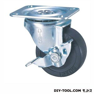 ナンシン 定番小径キャスター ゴム車輪 高さ:65mm STC50EMS-1 (C 50- 50×21)