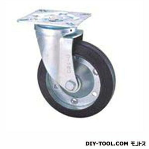 ナンシン 定番中軽量キャスター ゴム車輪 高さ:165mm STC125CBC(C125-125×38)