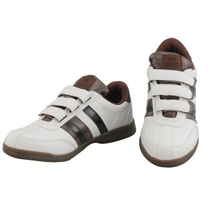 おたふく手袋 安全靴 WIDE WOLVES ターンベントベルクロ(マジック)タイプ ホワイト 25.5cm (WW-331M)