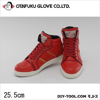 おたふく手袋 ワイルドウルブスイノベート 安全靴 レッド 25.5cm (WW-355H)
