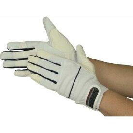 おたふく手袋 ピーユー・キングプラス ホワイト・ネイビー M (K37WHNVM) 1双