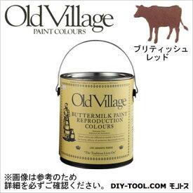 Old Village Paint バターミルクペイント ブリティッシュ レッド 3785ml BM-1305G 自然塗料 クラフト 水性塗料