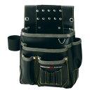 プロスター New Kw2 仮枠釘袋 工具差付(小) ブラック (KE-803B)