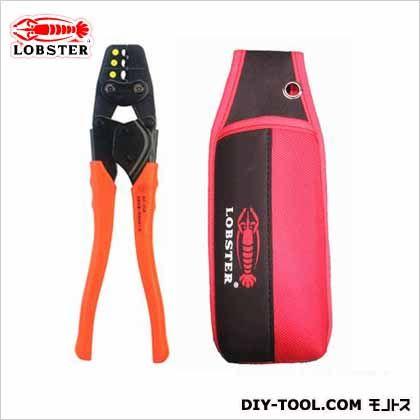 ロブテックス 圧着工具ホルダ付セット グリップカラー:橙 全長:266mm AK25AH