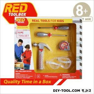 レッドツールボックス 5点ツールセットforKids子供用工具セット 約L40×W7×H36.5cm ST004-05