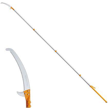 シルキー ハヤテ4段セット(2.4〜6.1M)(鋸・のこぎり)高枝鋸 420mm 372-42