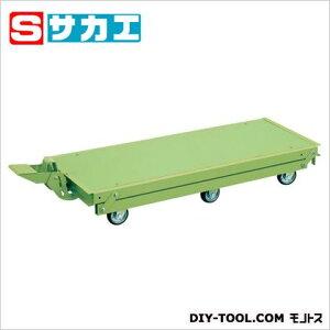 サカエ 作業台オプションペダル昇降台車(6輪車) KTW187Q6DPS