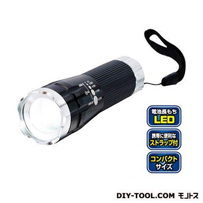 セーブ・インダストリー ツイストズーム付き 3W LEDトーチ シルバー (SV-4090)