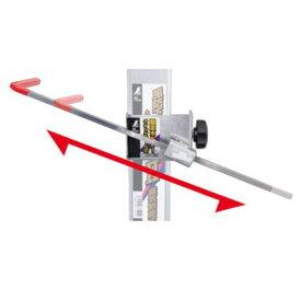 シンワ測定 固定ホルダー クイックアーム式 風防下げ振り用 シルバー (77599)